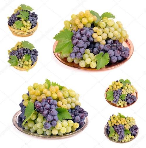 Полезные свойства белого и черного винограда