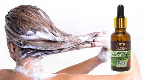 Масло жожоба для улучшения состояния волос, кожи