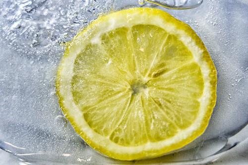 Замороженный лимон нарезанный